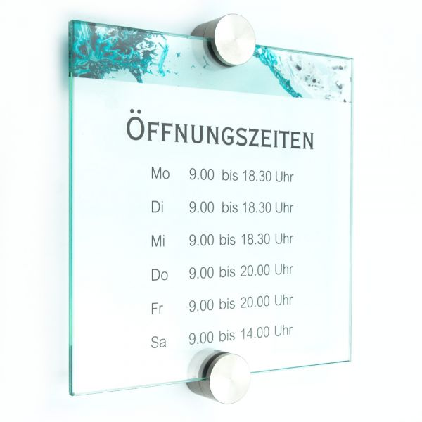 Türschild VITRUM Point 200/200/P2